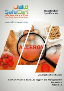 Anaphylaxis Award Qualification Specification